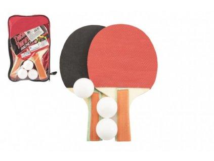 Sada stolní tenis/ping pong s míčky v pouzdře