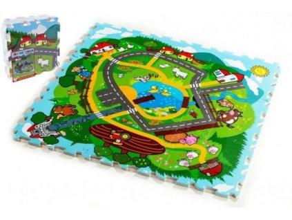 Pěnové puzzle Město Moje první zvířátka 9ks