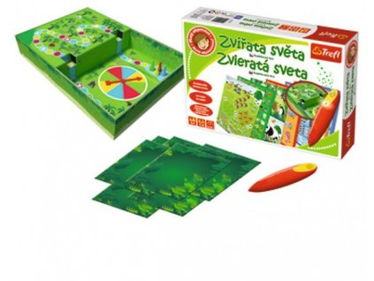 Malý objevitel Zvířata světa + kouzelná tužka edukační společenská hra
