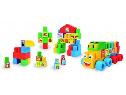 Kostky Wader stavebnice Middle Blocks plast 140ks