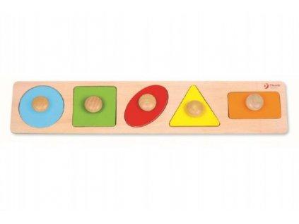 Vkládačka 5ks geometrické tvary pro nejmenší
