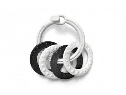 Kroužky se 4 tvary černobílé 2 druhy