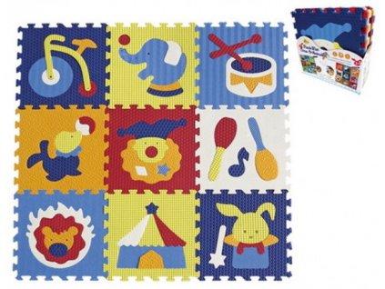 Pěnové puzzle cirkus 9ks