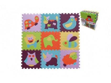 Pěnové puzzle zvířátka mix barev 9ks