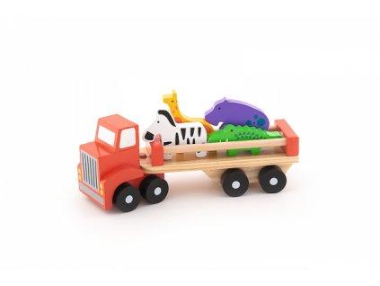 Auto nákladní safari Wooden Toys