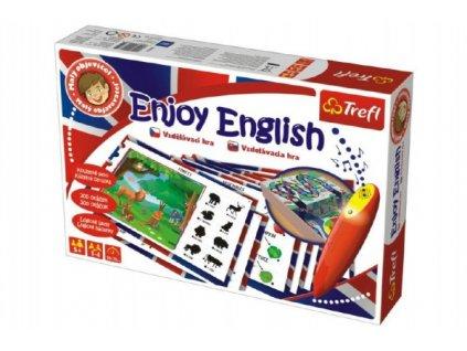 Malý objevitel Enjoy English + kouzelné pero naučná společenská hra