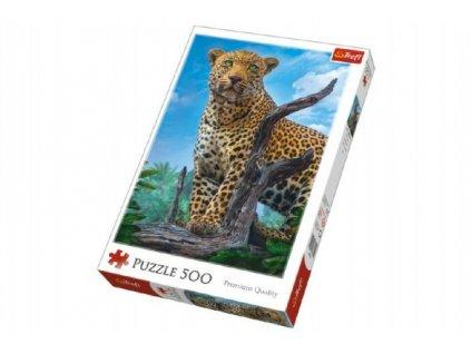 Puzzle Divoký Leopard 500 dílků