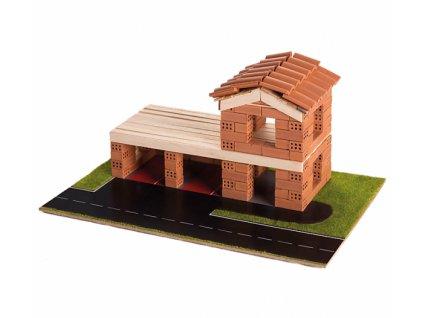 Pack Stavějte z cihel Hasičská stanice stavebnice Brick Trick + lepidlo grátis