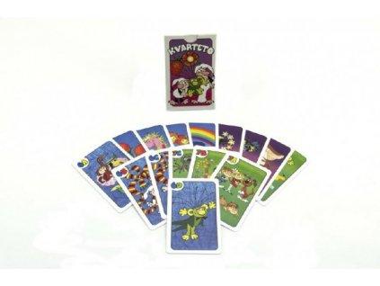 Kvarteto Pojď s námi do pohádky společenská hra - karty
