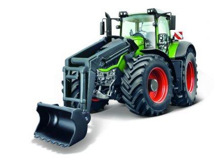 Traktor Bburago s nakladačem Fendt 1050 Vario/New Holland 2 druhy
