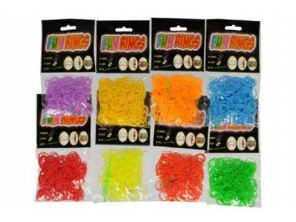 Udělej si svůj náramek - gumičky na pletení gumové mix barev 300ks