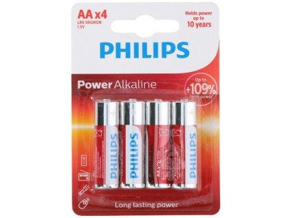 Baterie Philips Alkaline AA(LR6) 1,5V 4ks
