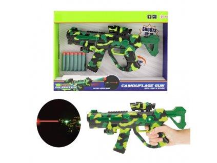 Pistole na pěnové náboje se zaměřovačem na bat. se světlem a se zvukem