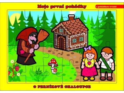 Puzzle deskové O Perníkové Chaloupce 24 dílků Moje první pohádky