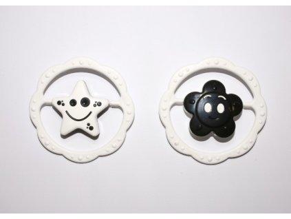 Chrastítko kruh 2 druhy černobílé