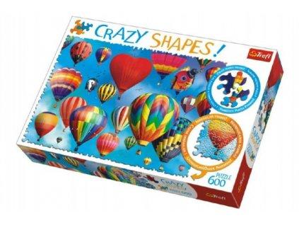 Puzzle Barevné balóny 600 dílků Crazy Shapes