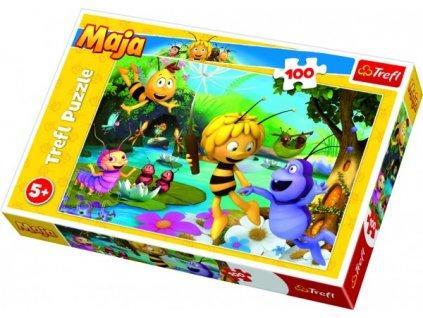 Puzzle Včelka Mája s přáteli 100 dílků