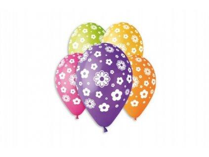 Balonek/Balonky nafukovací květiny 12''  5ks
