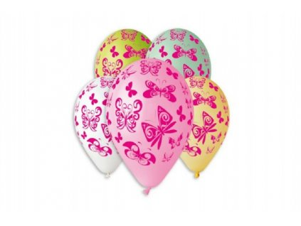Balonek/Balonky nafukovací motýl 12'' 5ks