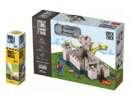 Pack Stavějte z cihel Pevnost stavebnice Brick Trick + lepidlo grátis