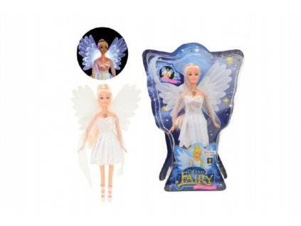 Panenka víla bílé šaty na baterie svítící