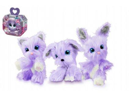 Zvířátko FUR BALLS Touláček VIOLET pejsek/kočka/králík fialový s doplňky