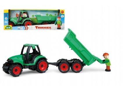 Auto Truckies traktor s vlečkou s figurkou