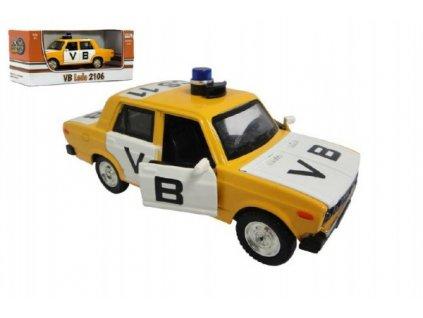 Auto veterán policie VB Lada 1600 VAZ 2106 1:32 na baterie se světlem se zvukem