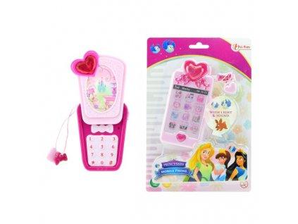 Telefon Mobil s princeznami na baterie se světlem se zvukem