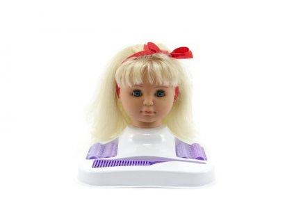 Česací hlava Hamiro blond s doplňky