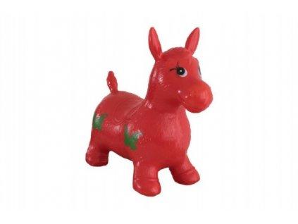 Hopsadlo kůň skákací gumový červený