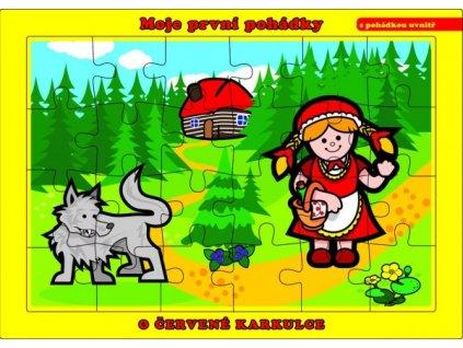 Puzzle deskové O Červené Karkulce 24 dílků Moje první pohádky