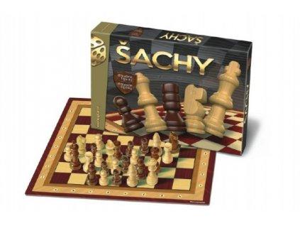 Šachy dřevěné figurky společenská hra