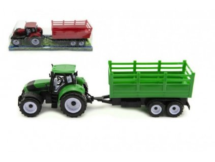 Traktor s vlečkou na setrvačník 2 barvy