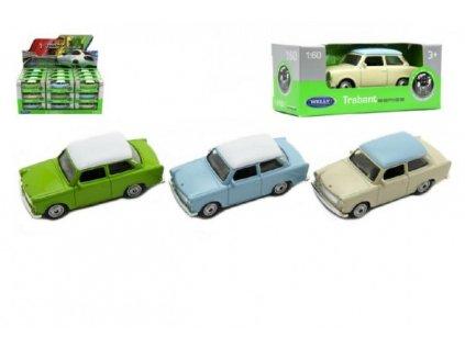 Auto Welly Trabant 1:60 mix barev volný chod