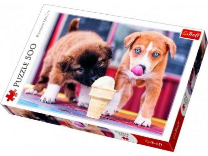 Puzzle Pejsci se zmrzlinou 500 dílků
