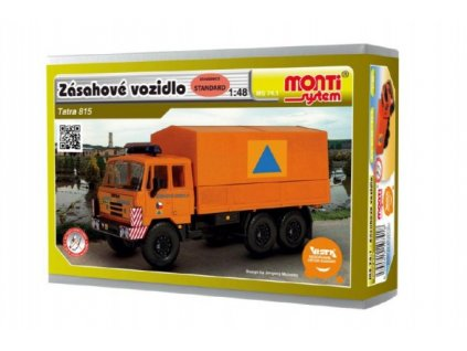 Stavebnice Monti 74.1 Tatra 815 zásahové vozidlo CO 1:48