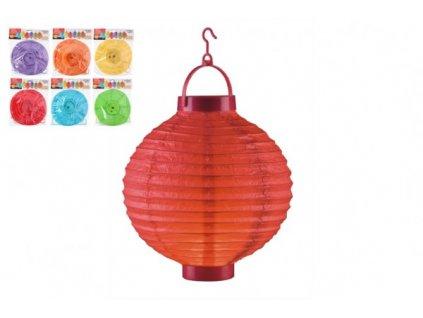 Lampion průměr LED na baterie 6 druhů (bez hůlky)