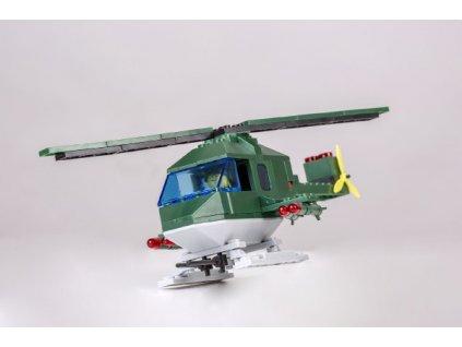 Stavebnice Cheva 46 Vrtulník vojenský plast 121ks