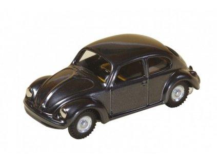Kovové auto VW brouk tmavě šedivé