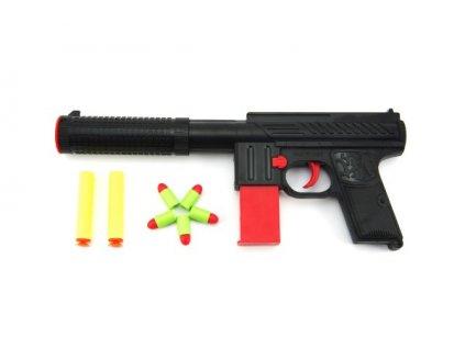 Pistole na pěnové náboje 2ks + špuntovka 5ks