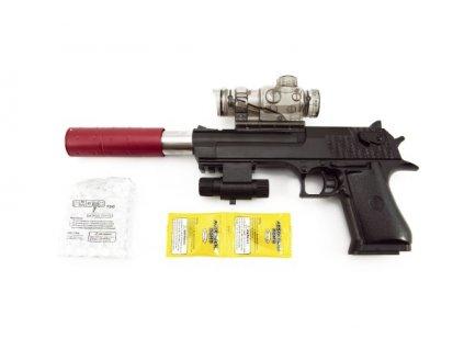 Pistole na vodní kuličky + náboje 9-11mm na baterie se světlem