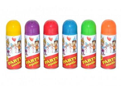 Párty nudle/špagety ve spreji 6 barev