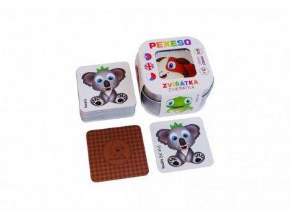 Pexeso Zvířátka 64 karet Hmaťák