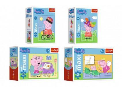 Minipuzzle miniMaxi 20 dílků Zábava s Peppou Pig/Peppa pig 4 druhy