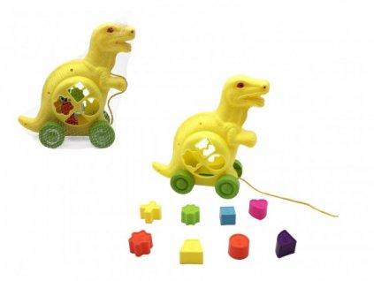 Vkládačka dinosaurus tahací