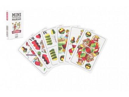 Mariáš MINI dvouhlavý společenská hra karty 32ks