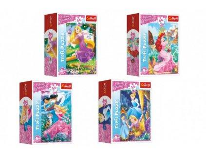 Minipuzzle 54 dílků Dobrodružný svět princezen 4 druhy 40ks