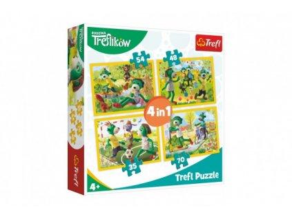 Puzzle 4v1 Rodina Treflíků