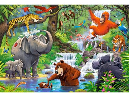 Puzzle Zvířátka v džungli MAXI 40 dílků